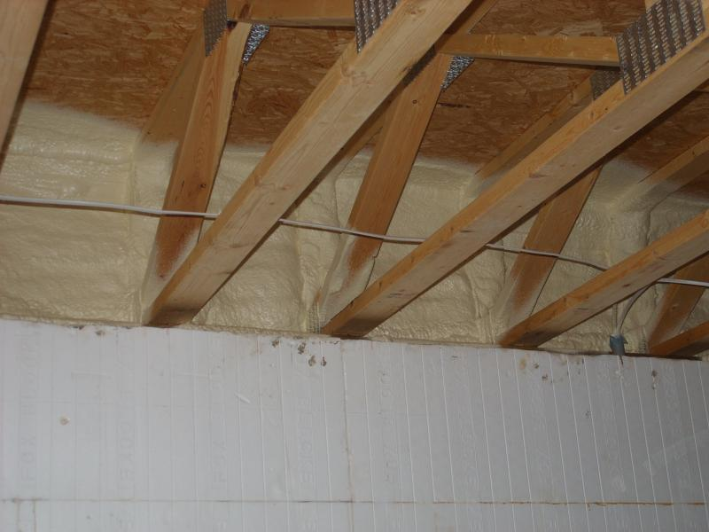 Wahl spray foam insulation services new and old attics spray 2 inches of 2 lb foam on to the ceiling to seal outlets and add recessed light covers to stop air infiltration mozeypictures Choice Image